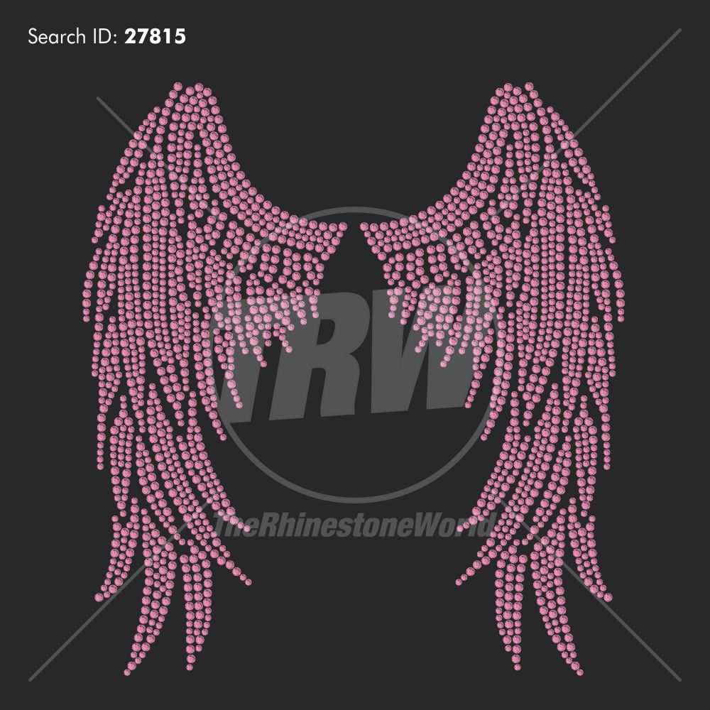 Angel Wings Large Rhinestone Design - Pre-Cut Template