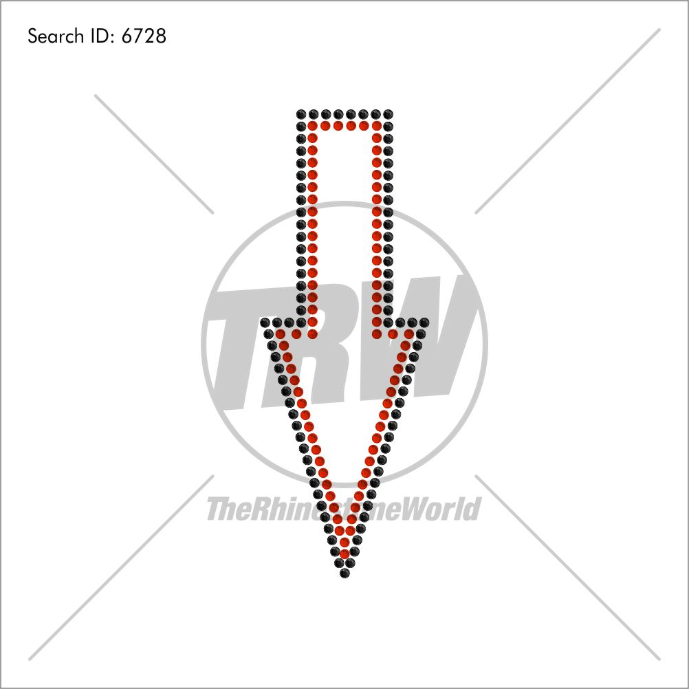 Arrow 1 Rhinestone Design - Download