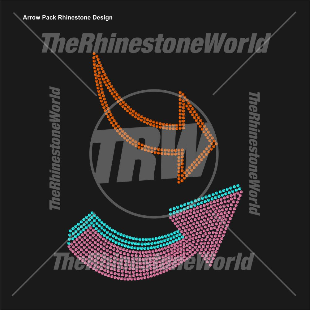 Arrow Pack Rhinestone Design - Download