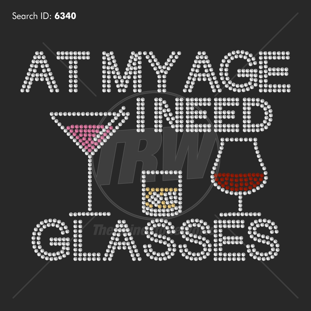At My Age I Need Glasses - Pre-Cut Template