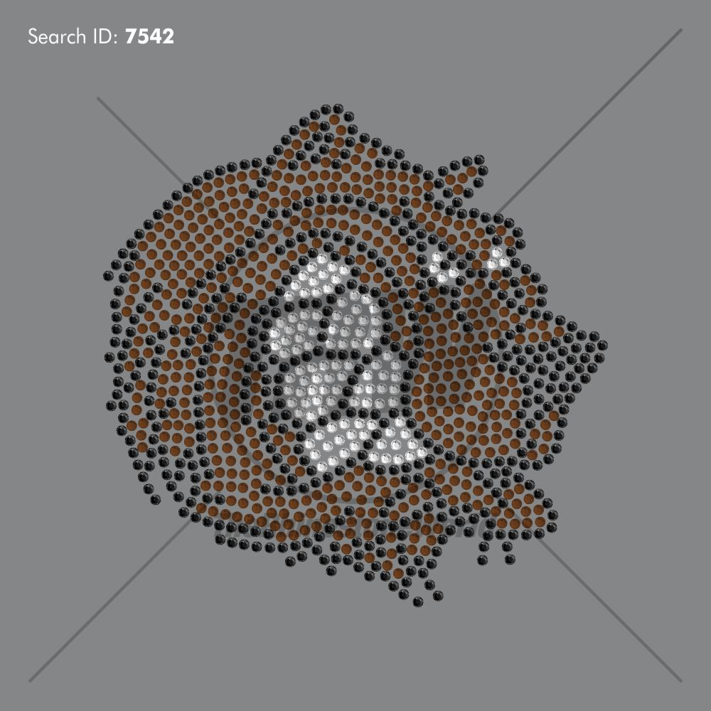 BEAR MASCOT 99 Rhinestone Design - Pre-Cut Template