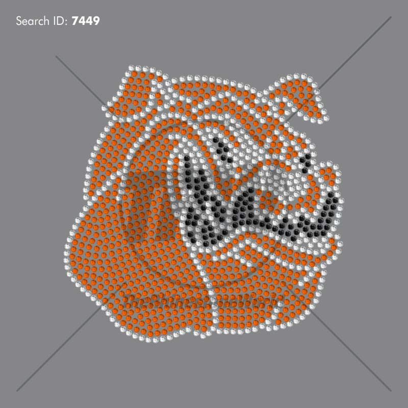 BULLDOGS MASCOT 99 Rhinestone Design - Pre-Cut Template