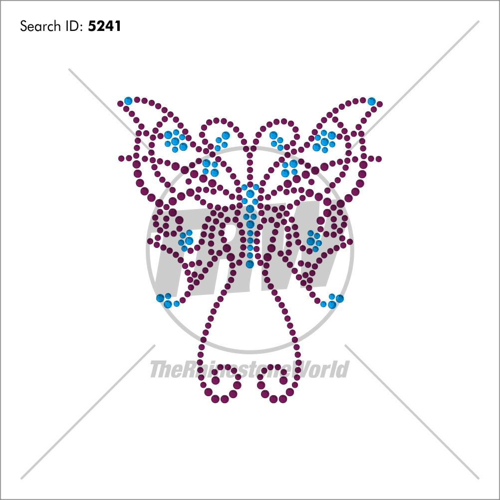 Butterfly 36 Rhinestone Design - Download