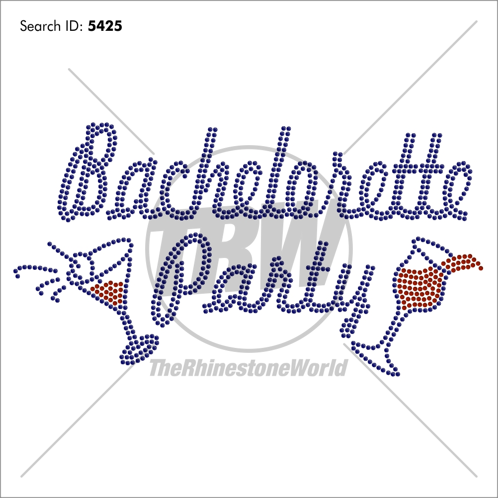 Bachelorette Party 1 Rhinestone Design - Download