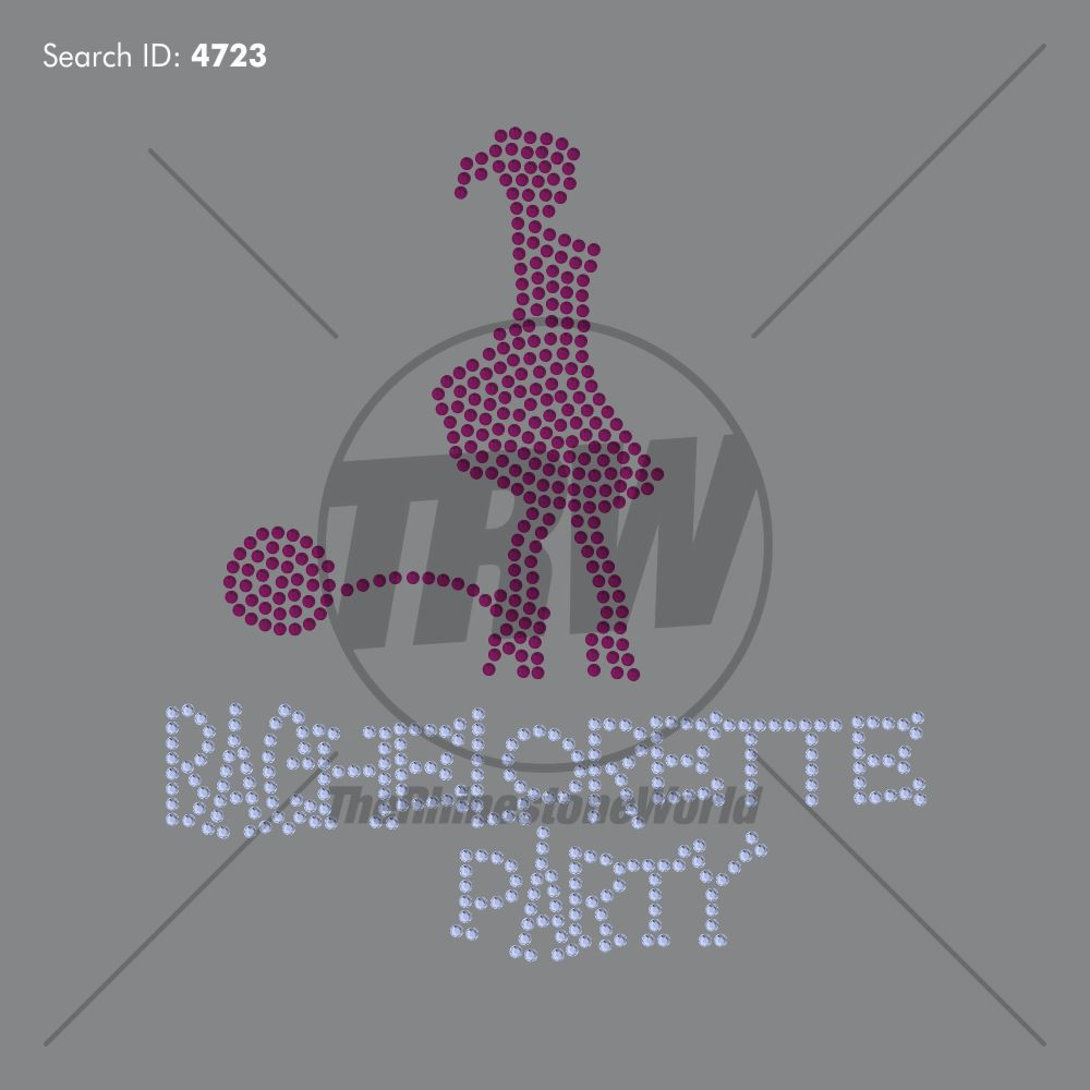 Bachelorette Party Rhinestone Design - Download
