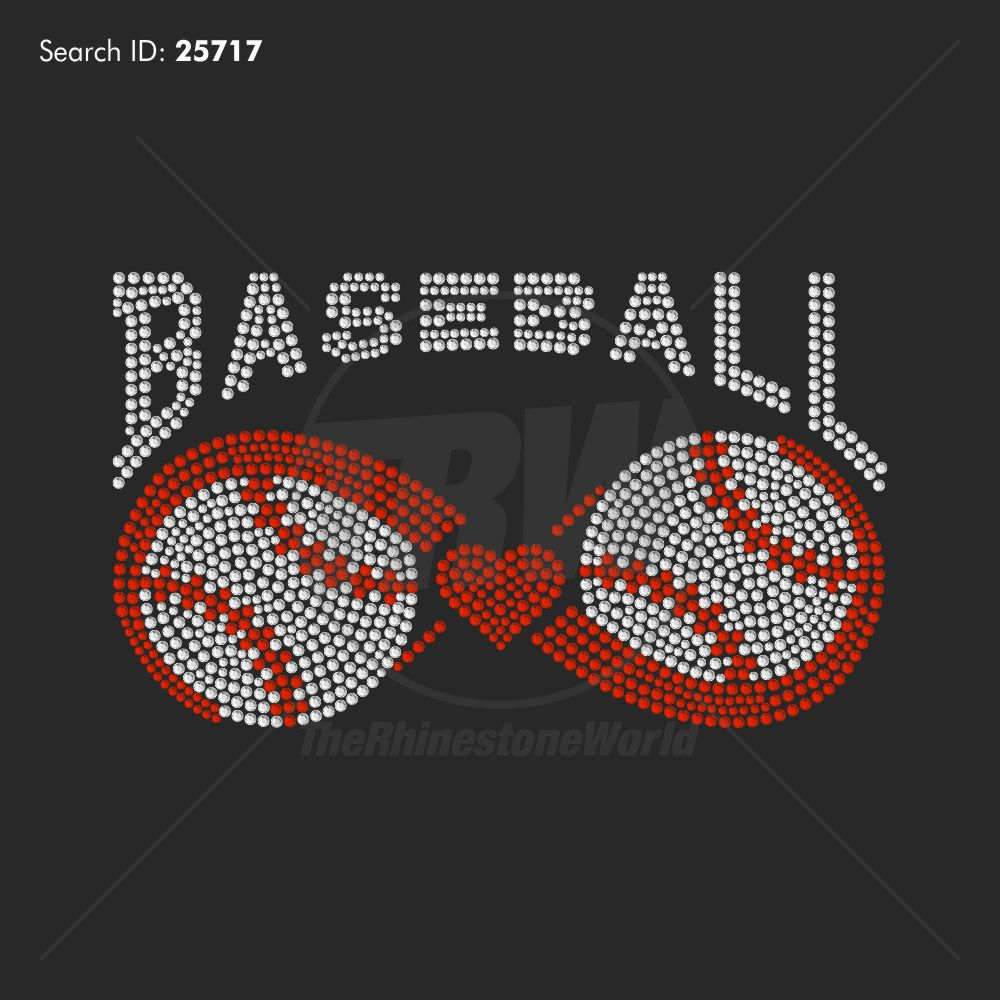 Baseball Balance Rhinestone Design - Download