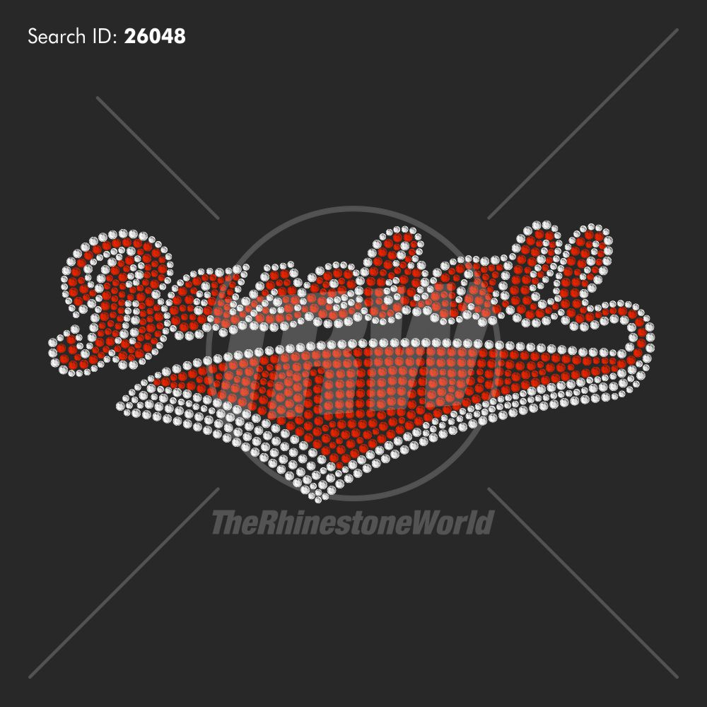 Baseball Banner 3 Rhinestone Design - Download