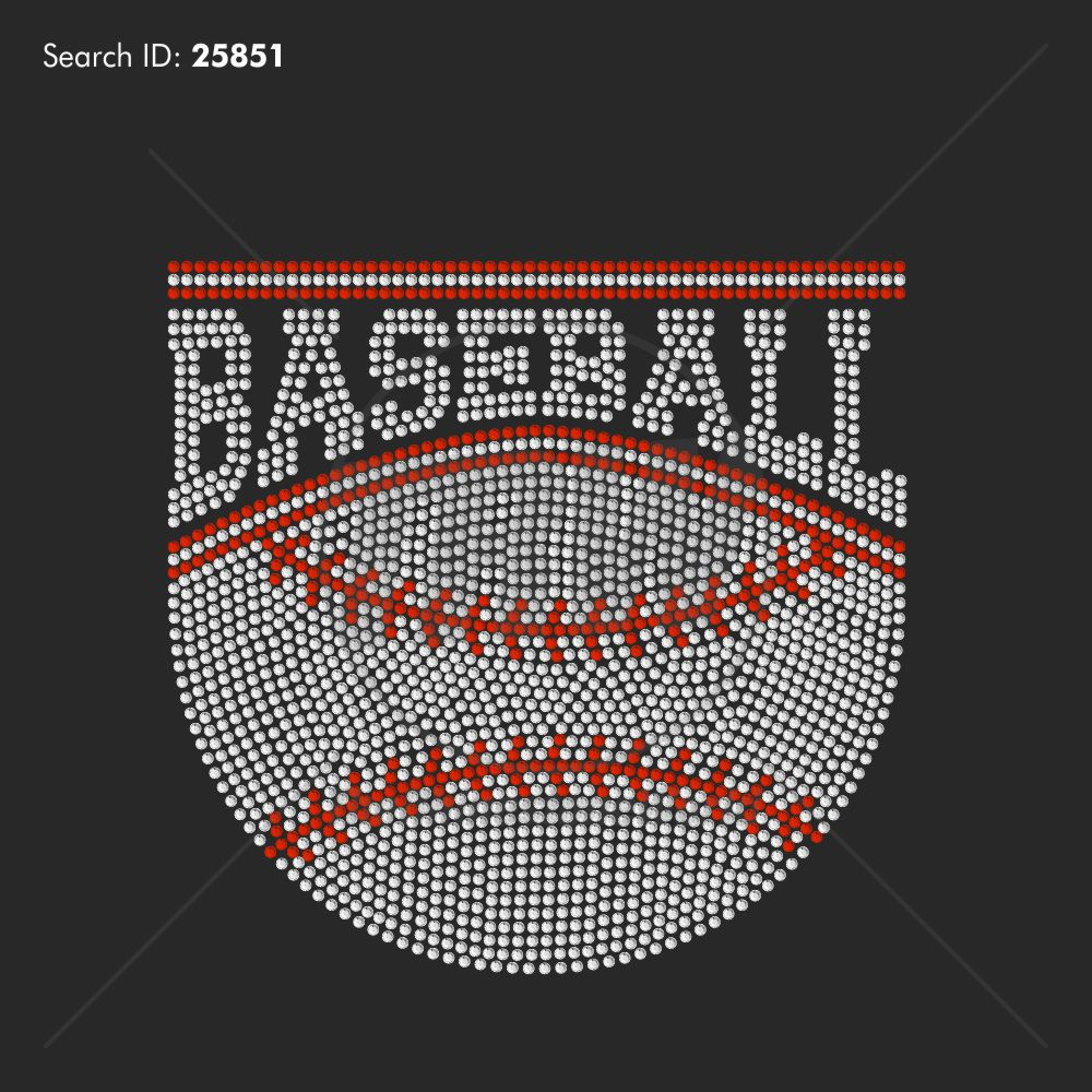 Baseball Banner 5 Rhinestone Design - Download