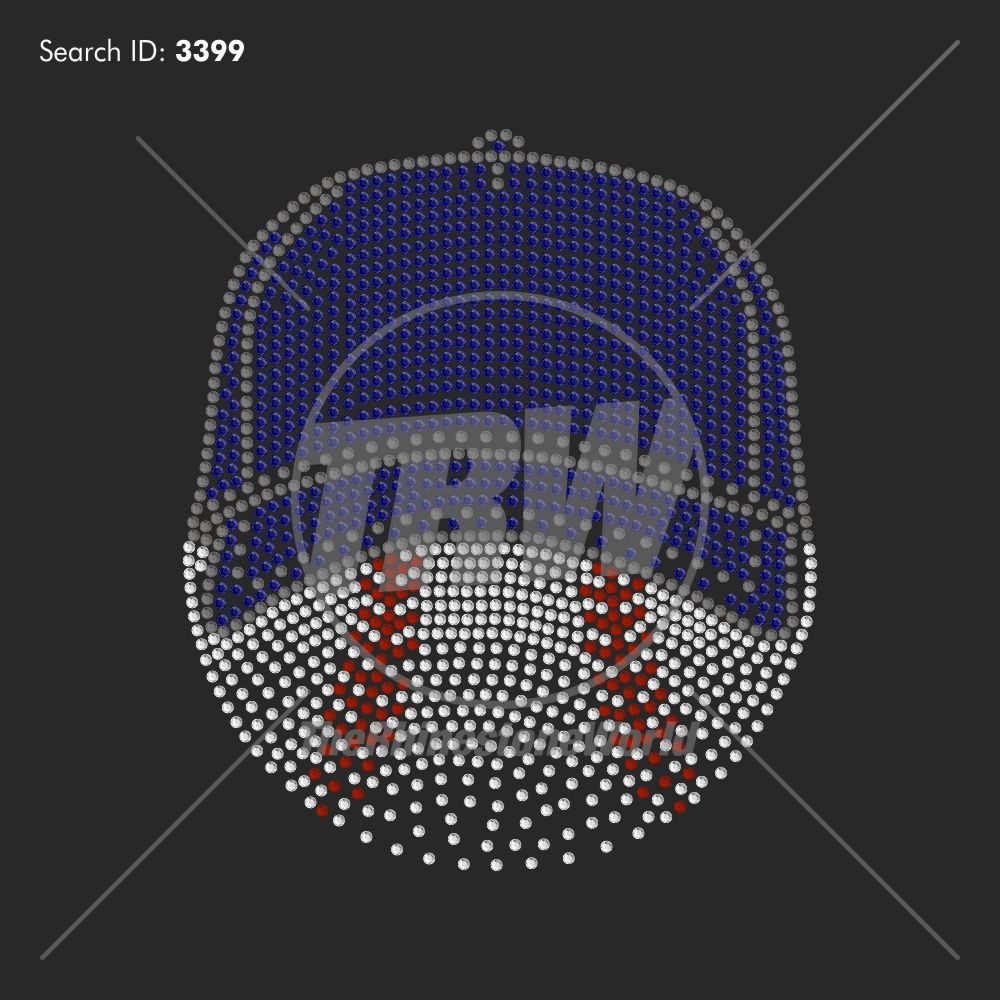 Baseball Fade 99 Rhinestone Design - Download