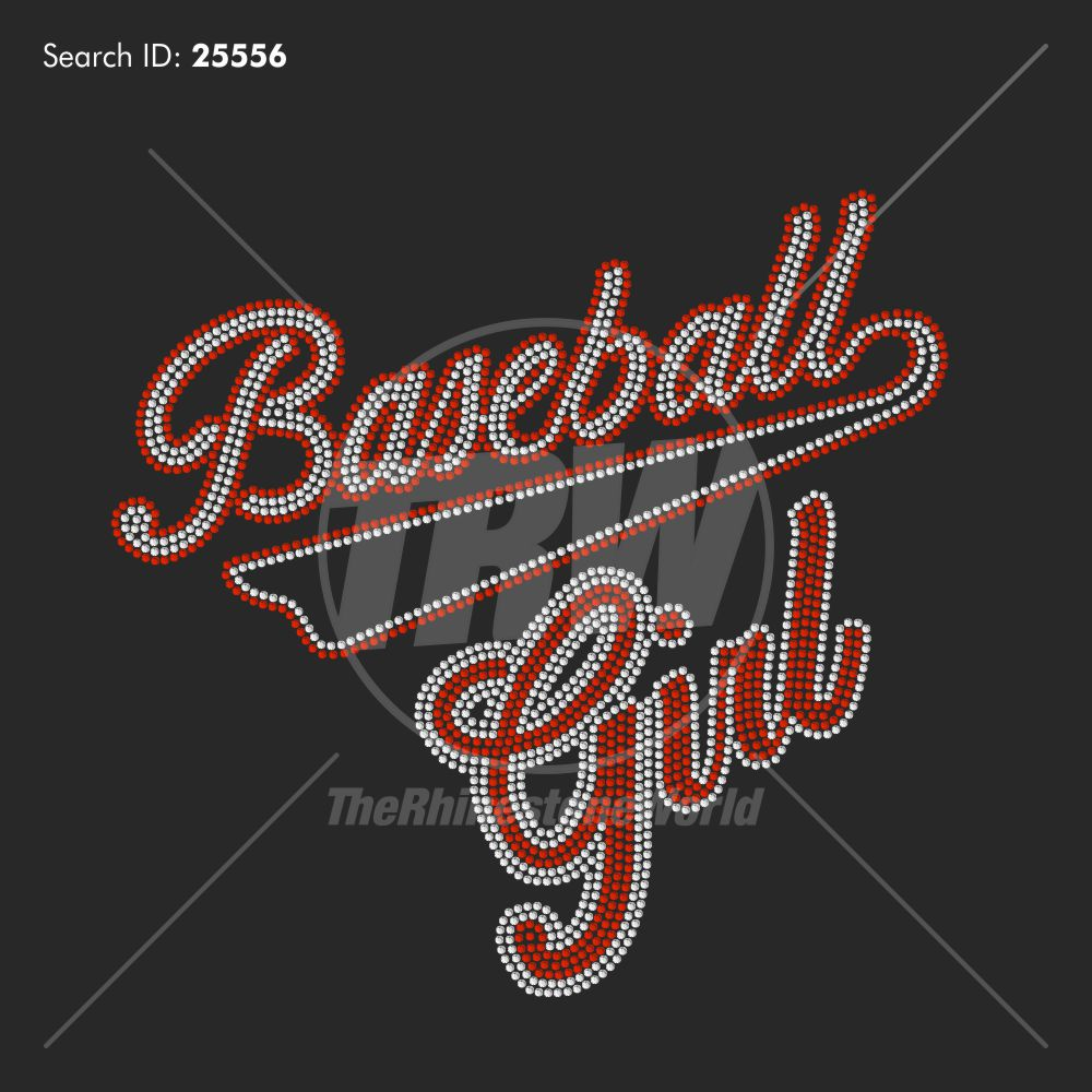Baseball Girl 505 Rhinestone Design Download - Pre-Cut Template