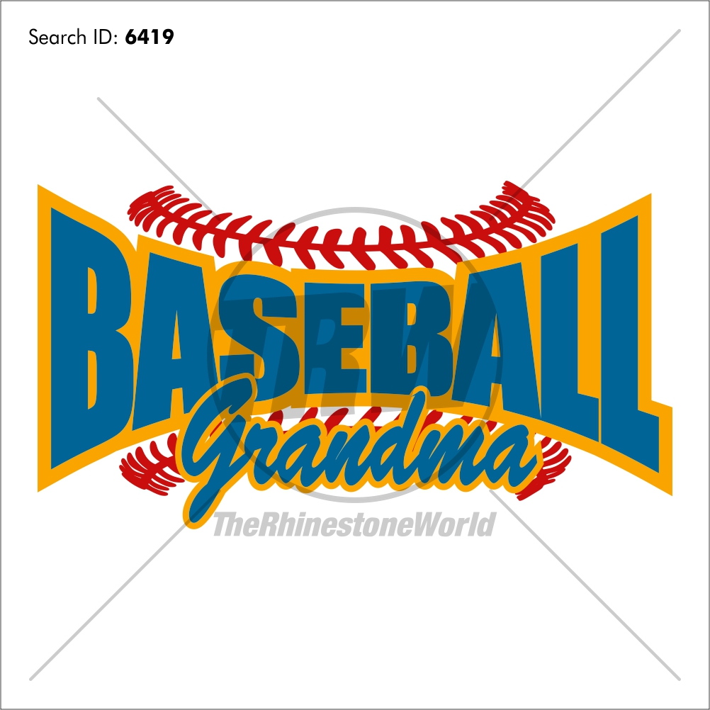 Baseball Grandma 20 Vector Design - Download