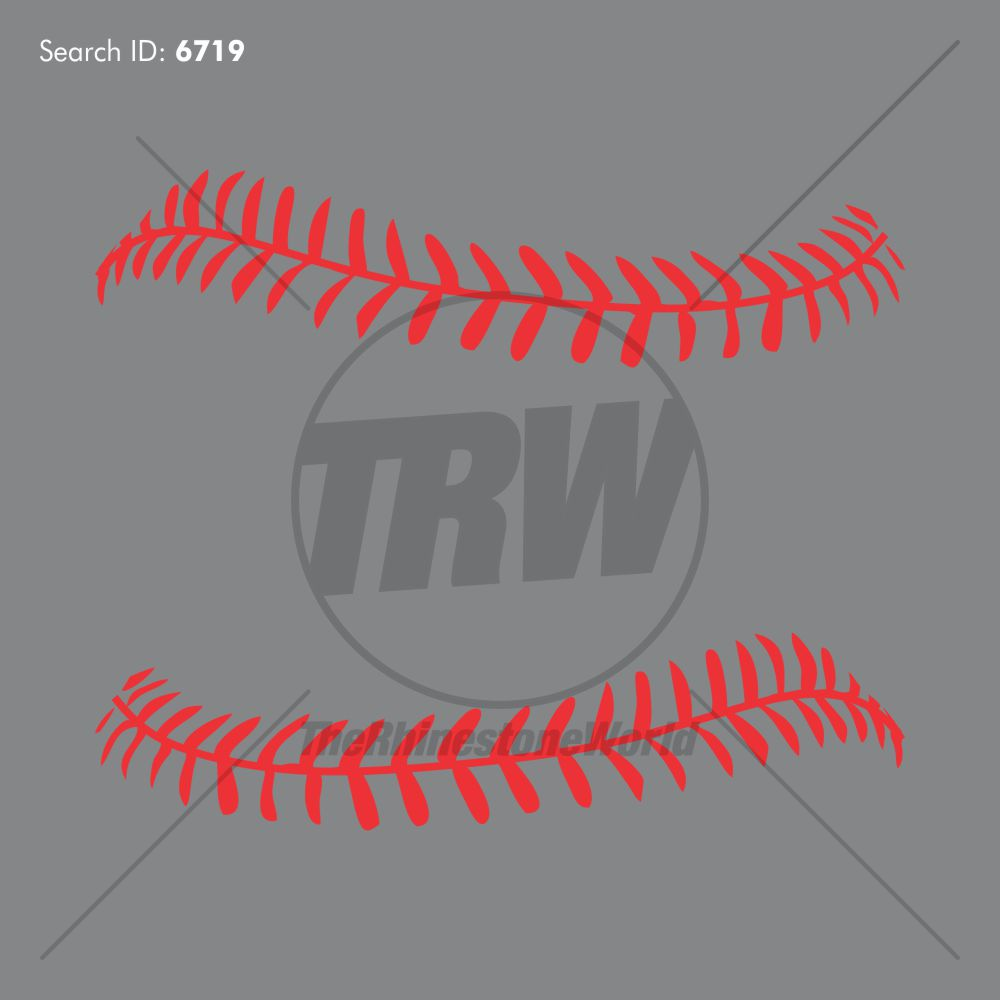 Baseball Laces Design - Download