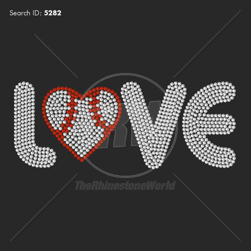 Baseball Love 44 Rhinestone Design - Download