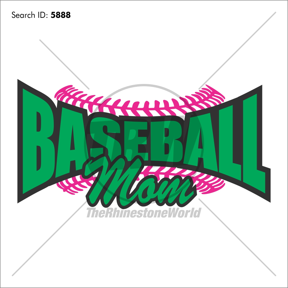 Baseball Mom 20 Vector Design - Download