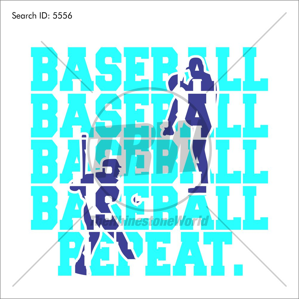 Baseball Repeat Vector Design - Download