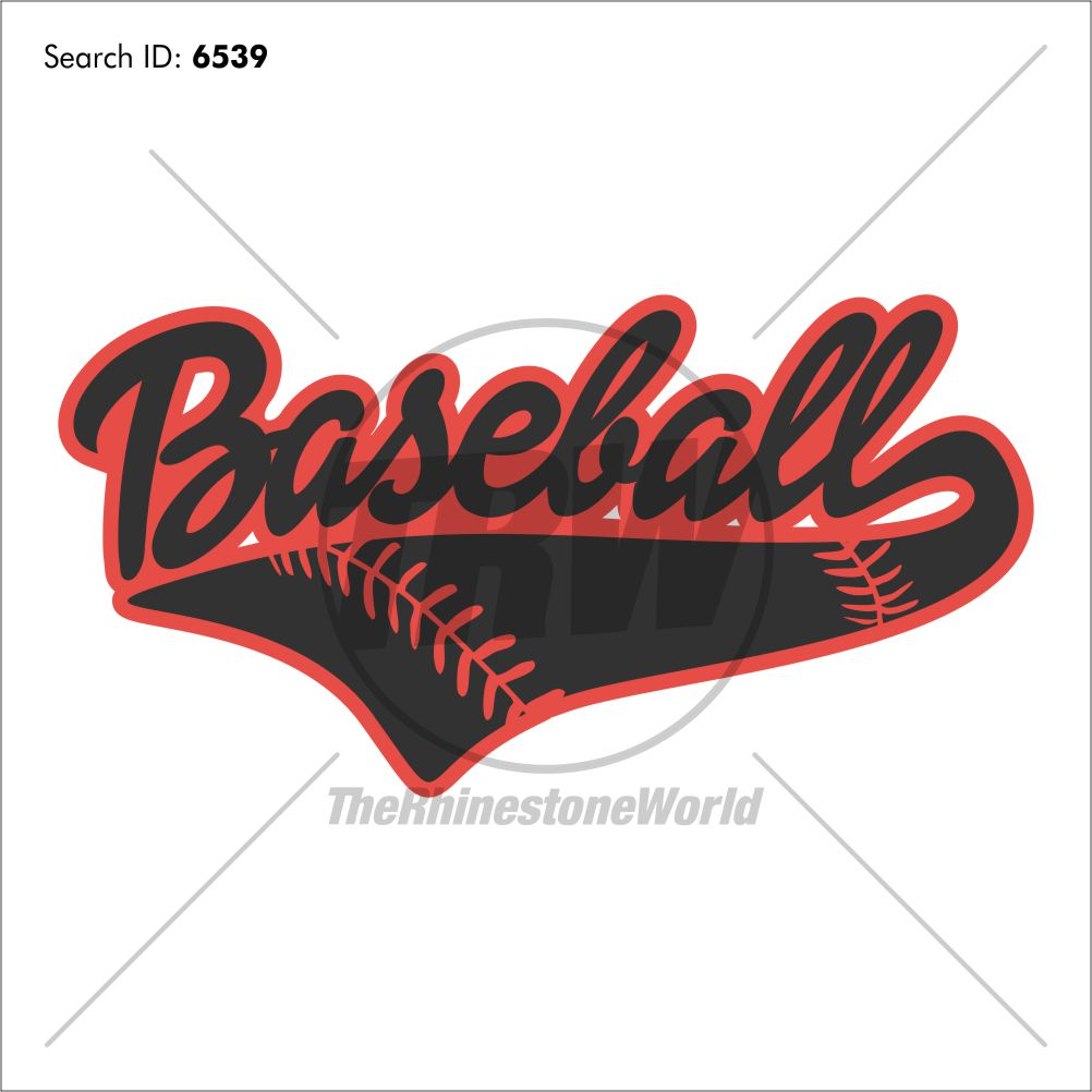 Baseball Tail 4 Heat Transfer Vinyl Design - Download