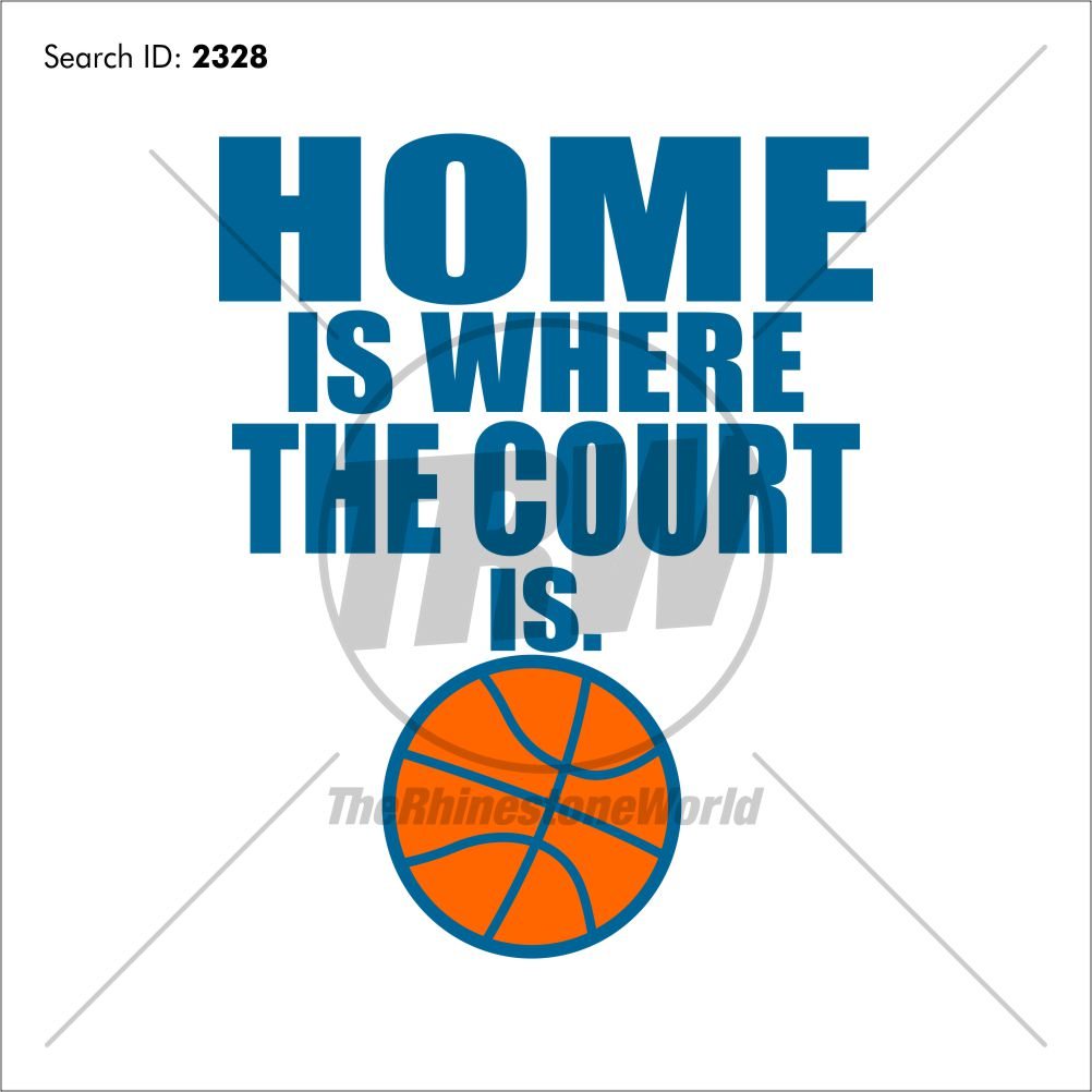 Basketball Home is Where Vector Design - Download