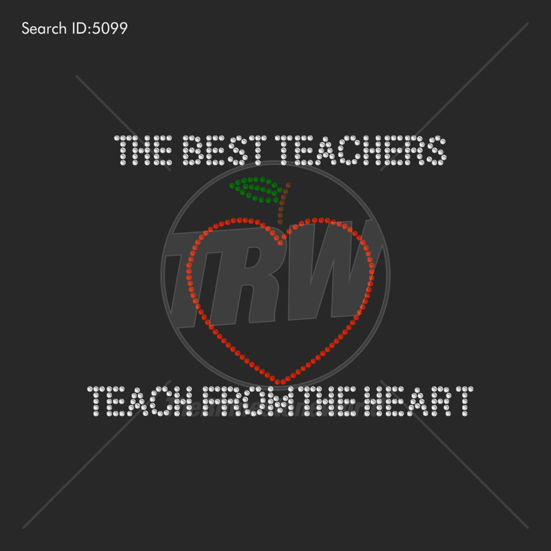 Best Teachers Rhinestone Design - Download