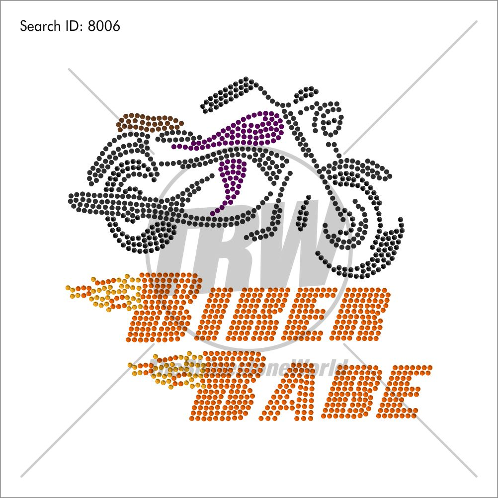 Biker Babe Rhinestone Design - Download