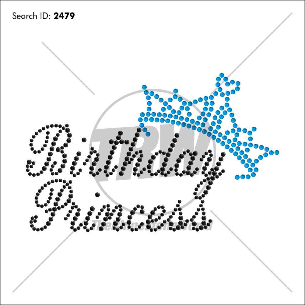Birthday Princess Rhinestone Design - Download