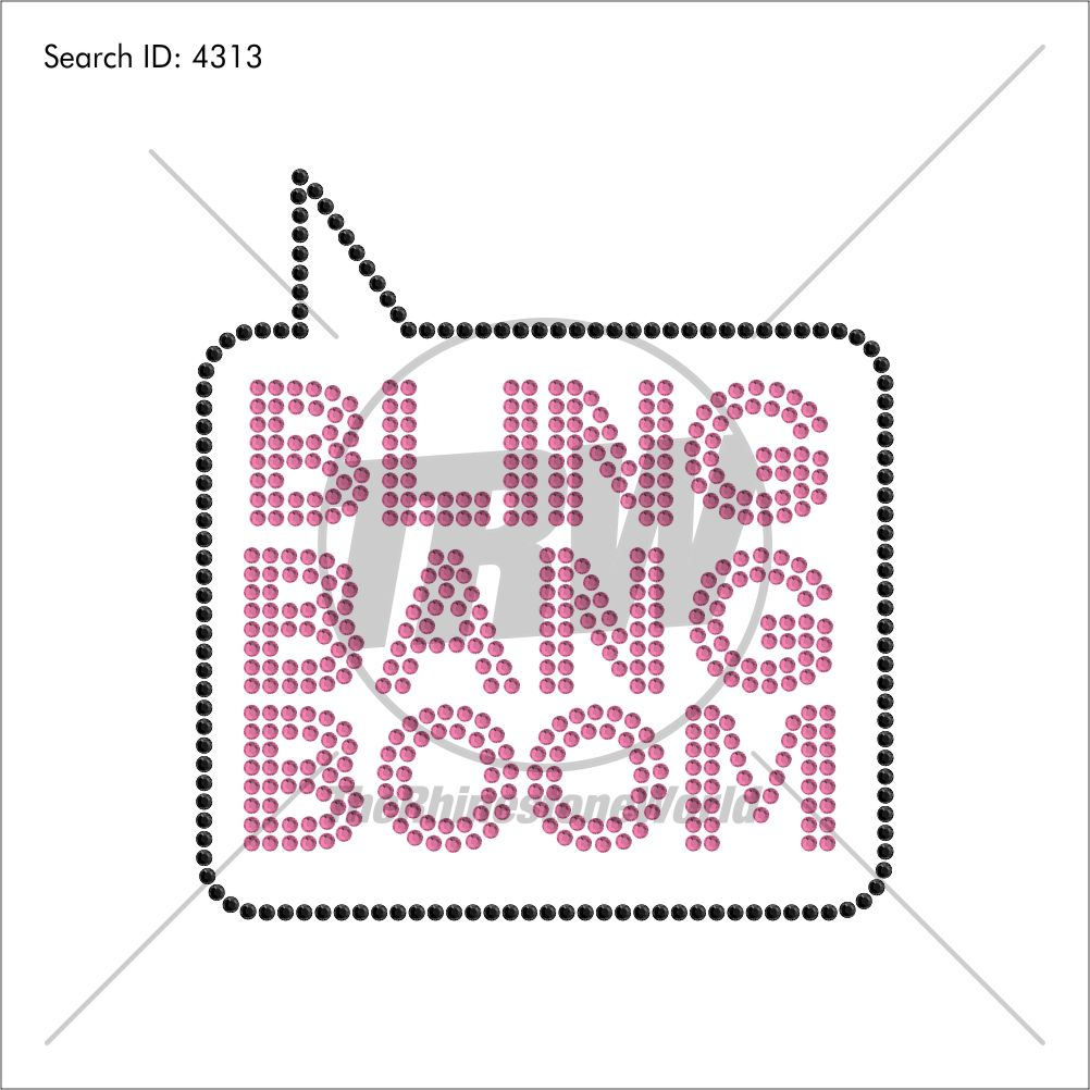 Bling Bang Boom Rhinestone Design - Download