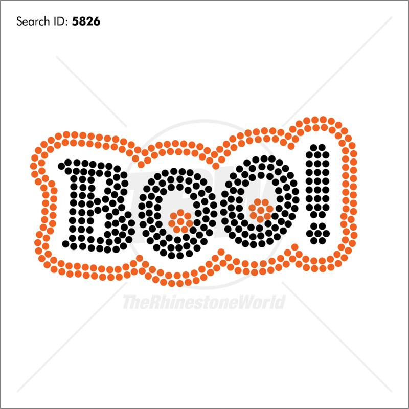 Boo 4 Rhinestone Design - Download