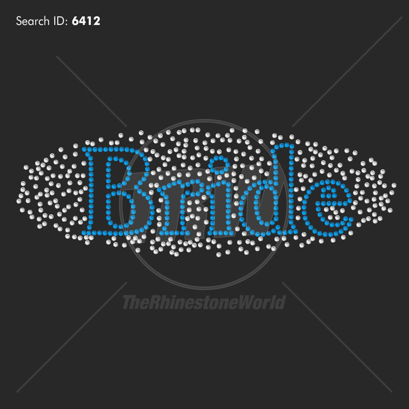 Bride Scatter Rhinestone Design - Download