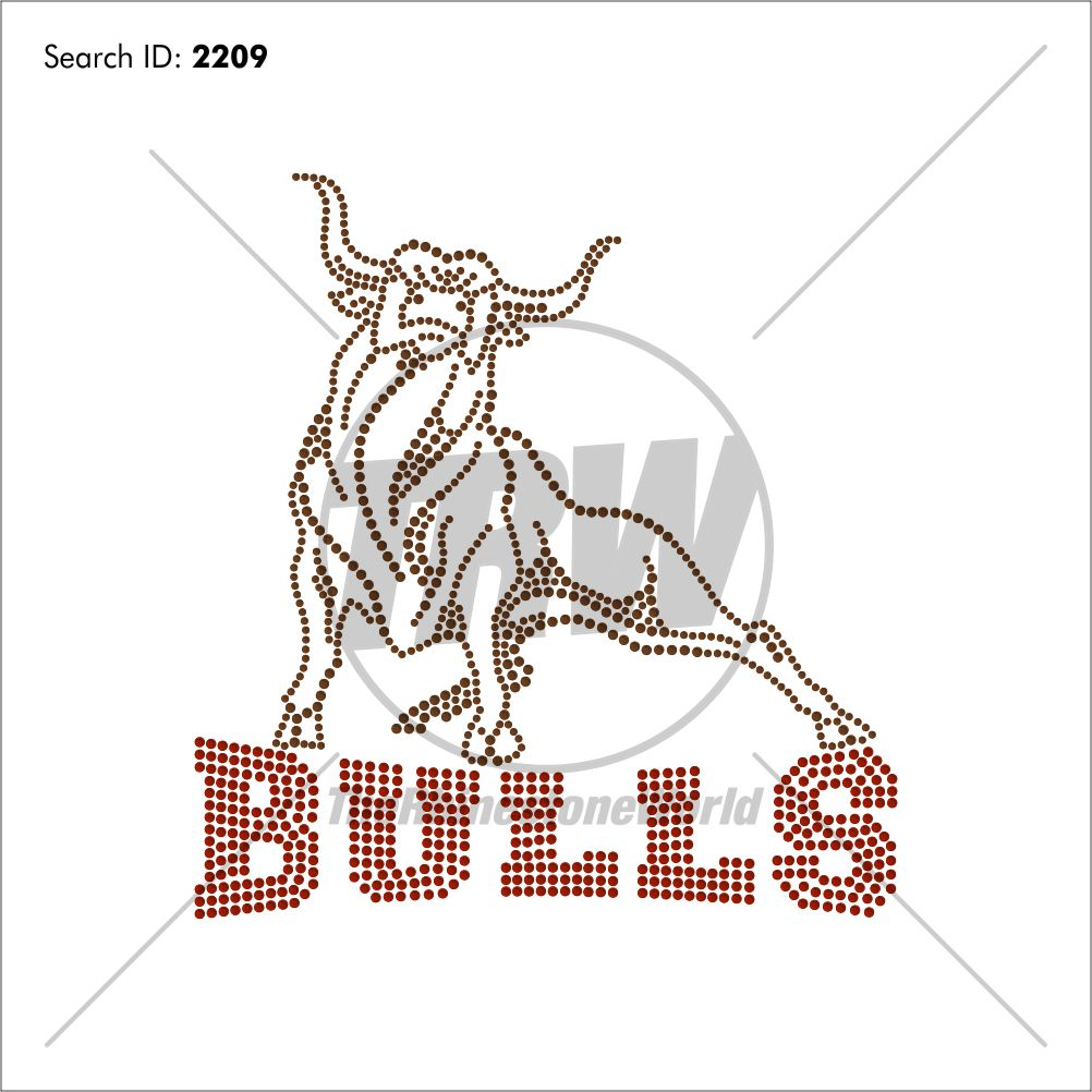 Bulls 55 Rhinestone Design - Download