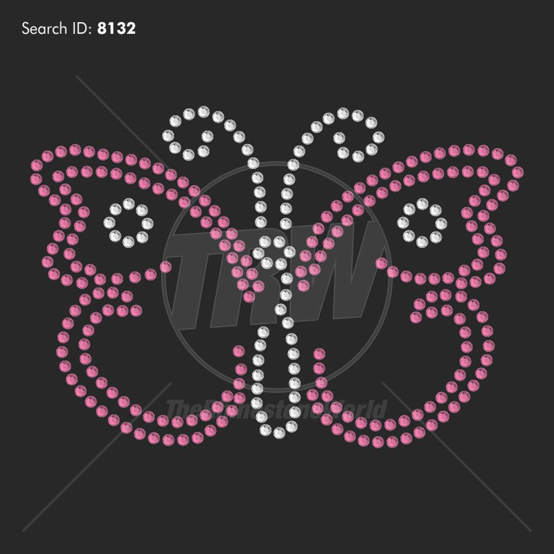 Butterfly 1 Rhinestone Design - Download