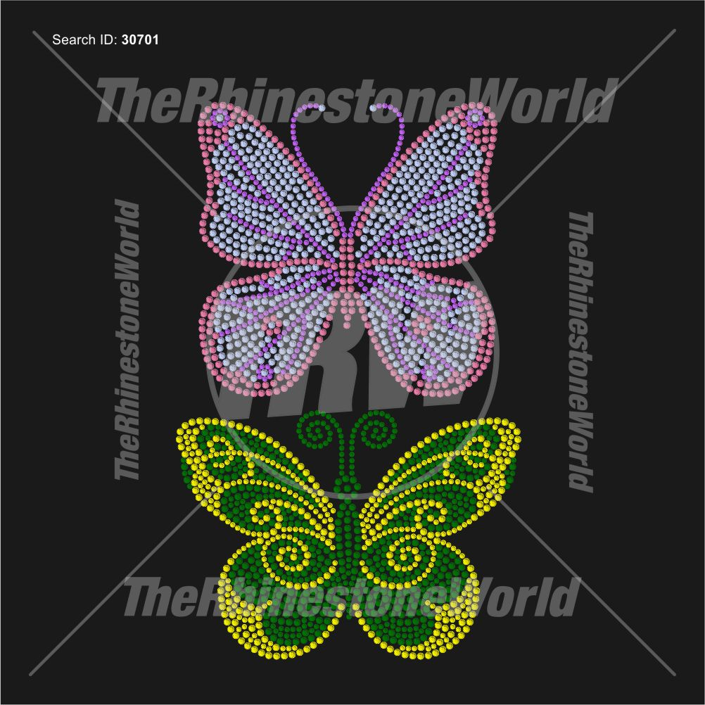 Butterfly 2 Pack Rhinestone Design - Download