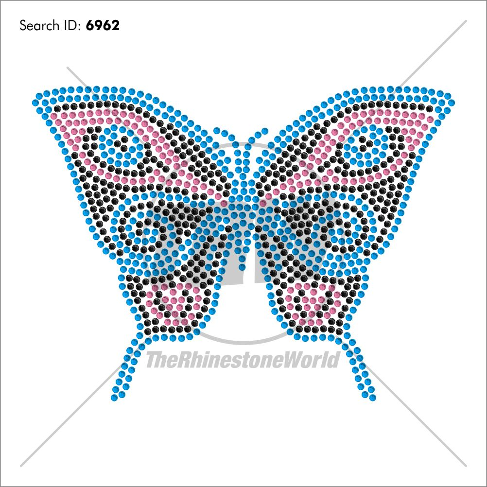 Butterfly 4 Rhinestone Design - Download