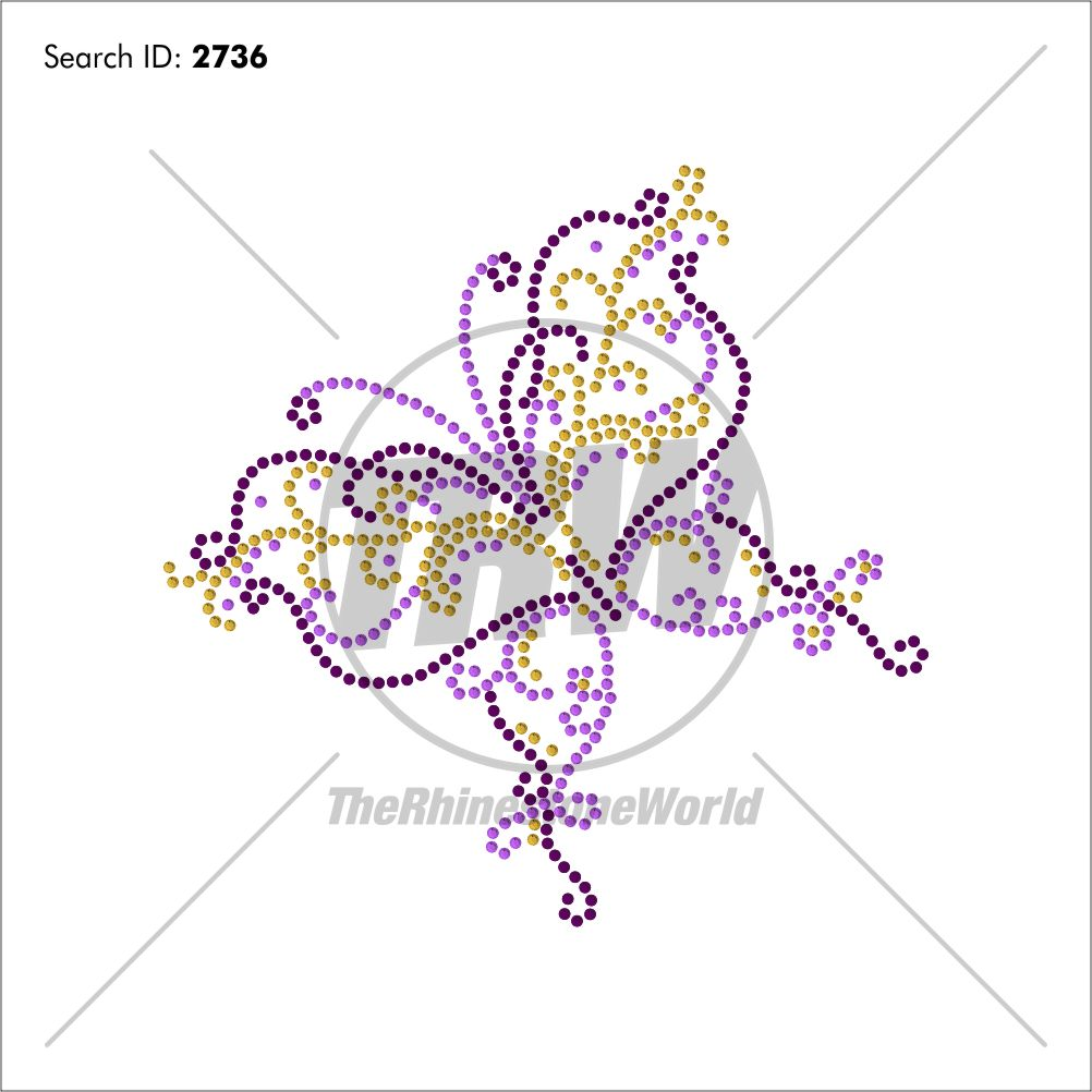 Butterfly 55 Rhinestone Design - Download