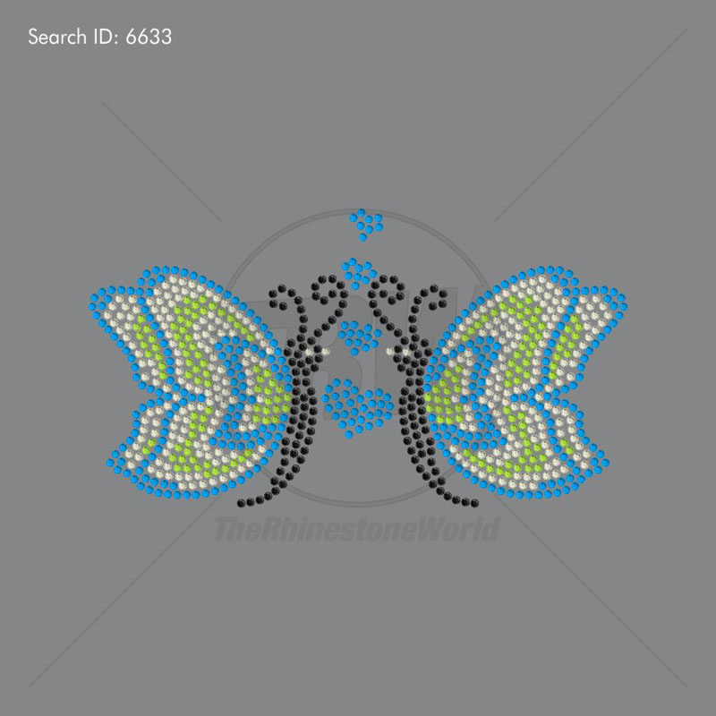 Butterfly Love Rhinestone Design - Download