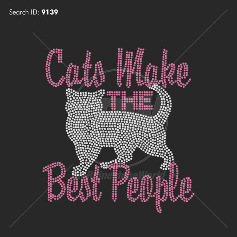 Cats Make the Best People - Pre-Cut Template
