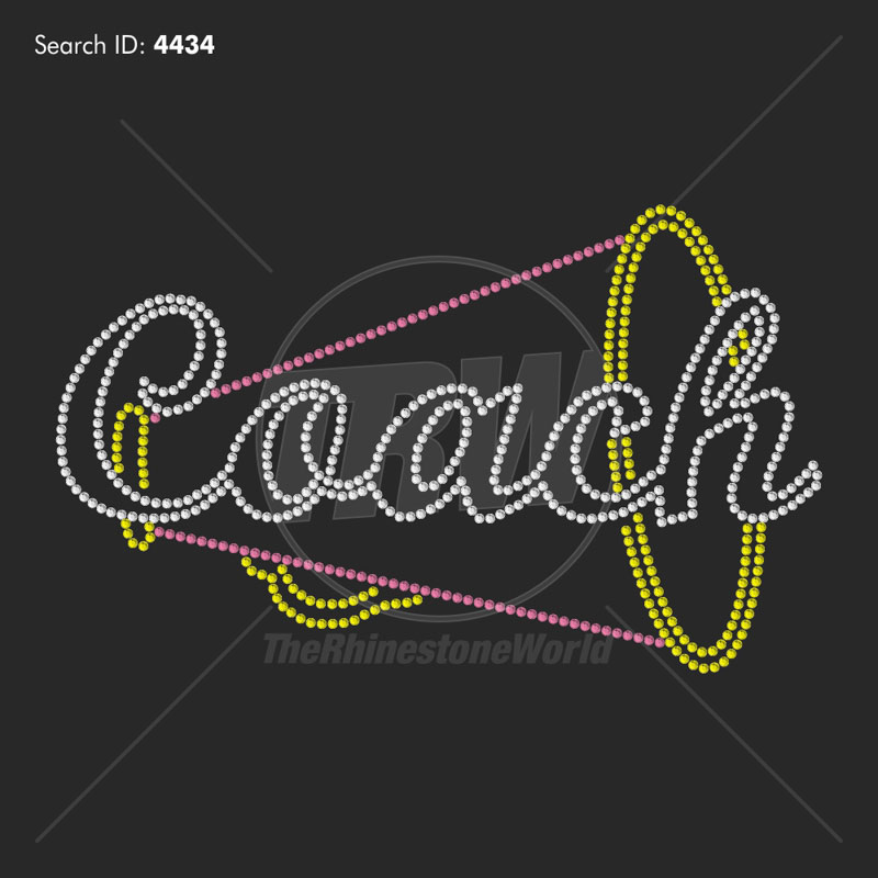 Cheer Coach 33 - Pre-Cut Template