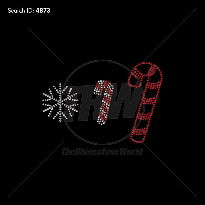 Christmas Mini Rhinestone Design Pack - Pre-Cut Template