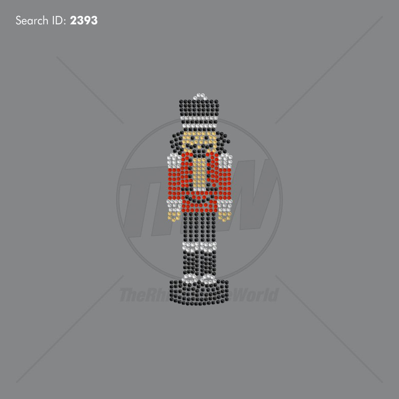 Christmas Nut Cracker Rhinestone Design - Download