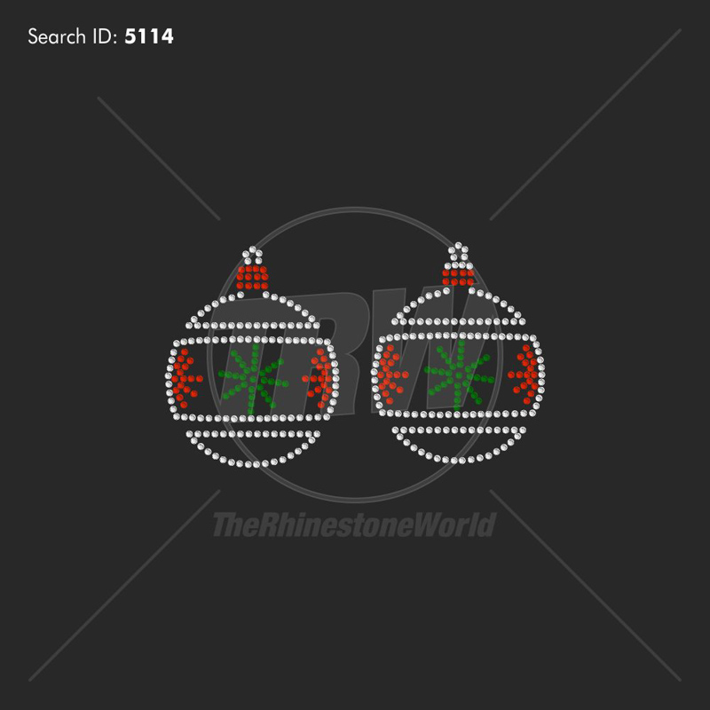 Christmas Ornament Rhinestone Design - Download