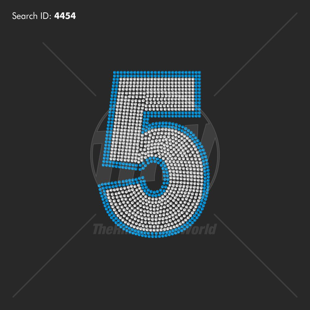Class Of Mega Add-On Number 5 Rhinestone Design - Download