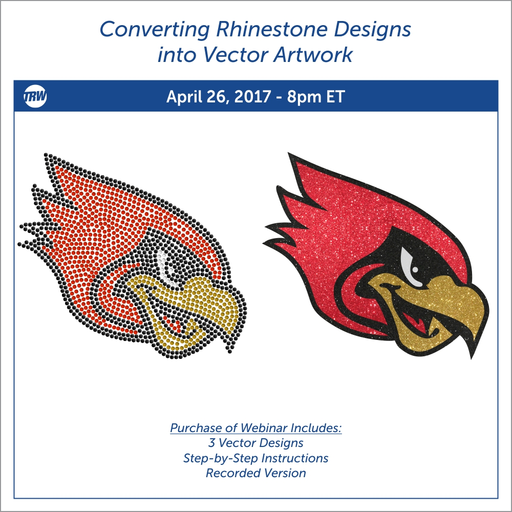 4/26/17-Converting Rhinestone Designs into Vector Artwork