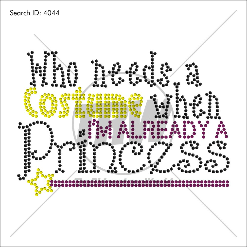Costume Already a Princess Rhinestone Design - Download