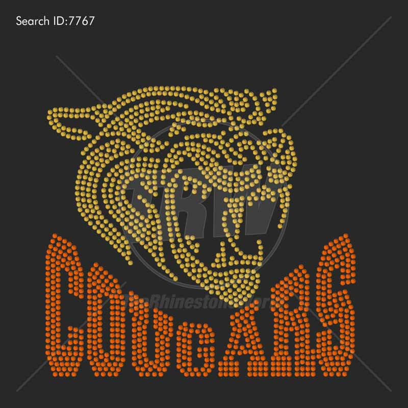 Cougars 55 Rhinestone Design - Download