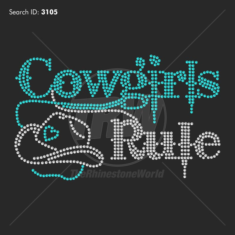 Cowgirls Rule - Pre-Cut Template