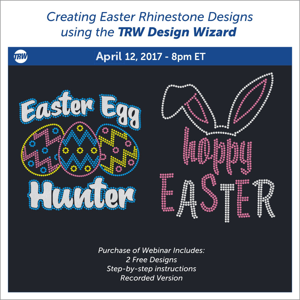 Creating Easter Rhinestone Designs using the Design Wizard