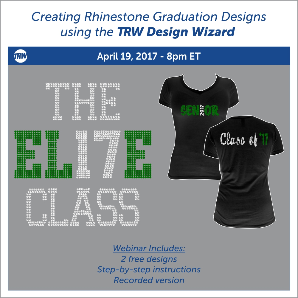 Creating Graduation Rhinestone Designs - April 19th, 2017