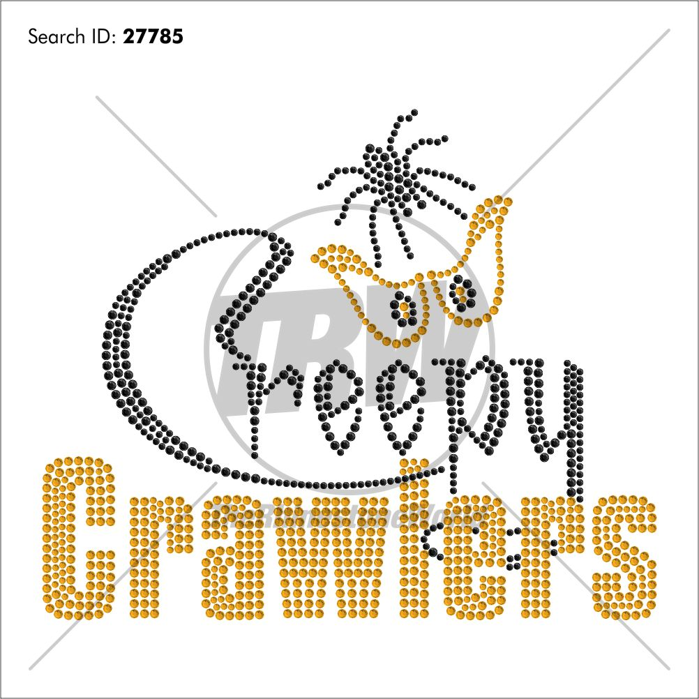 Creepy Crawlers Rhinestone Design - Pre-Cut Template