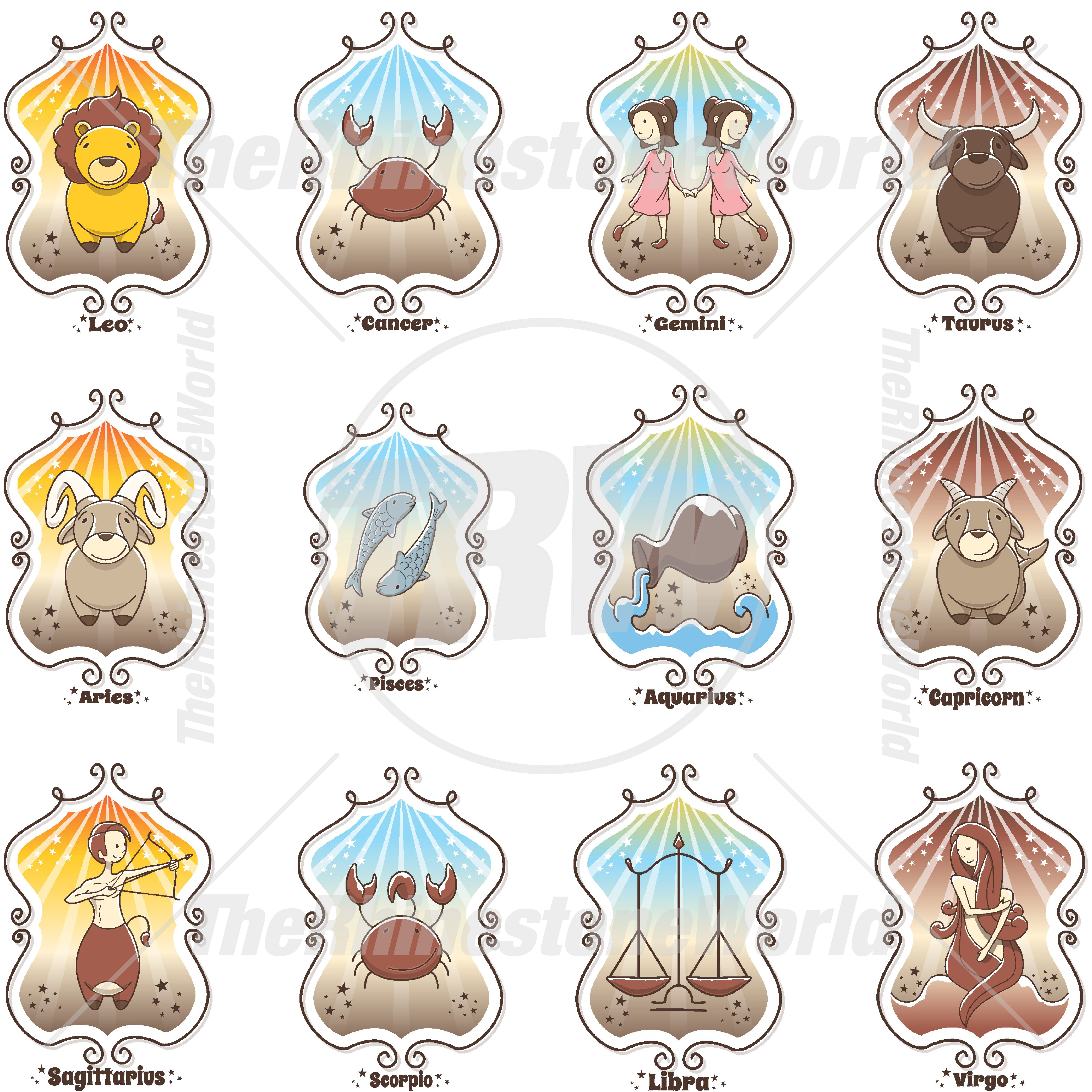 Cute Zodiac Live Template Mini Pack