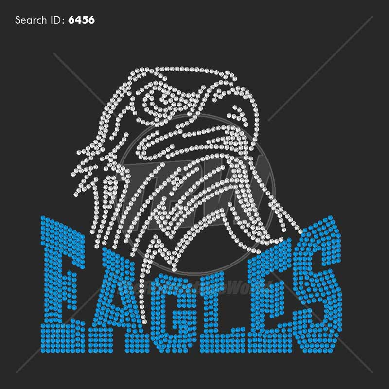Eagles 55 Rhinestone Design - Pre-Cut Template