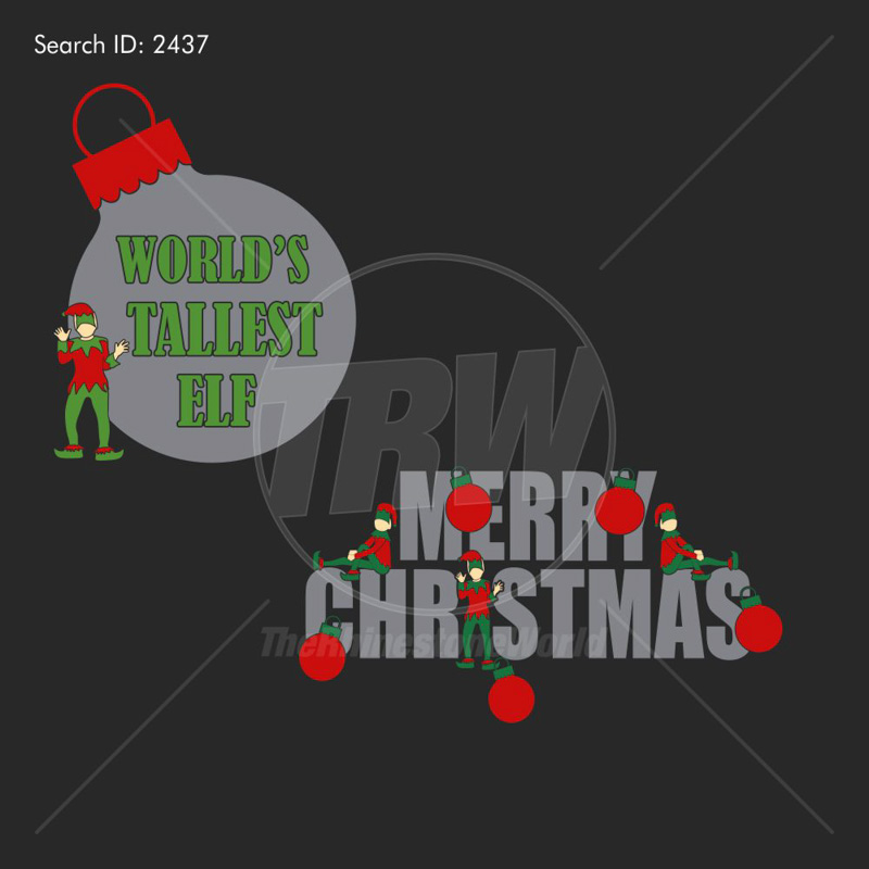 Elf Christmas Vector 2 Pack Design - Download