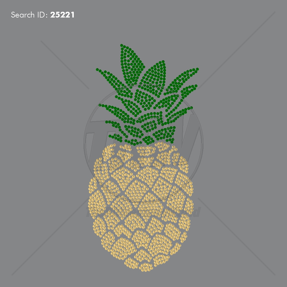 Extra Large Pineapple Rhinestone Design - Pre-Cut Template